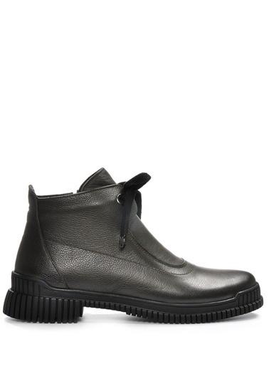 Vizon Ayakkabı Hakiki Deri Bot Haki